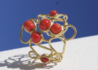 bracciale pietre corallo_Fotor